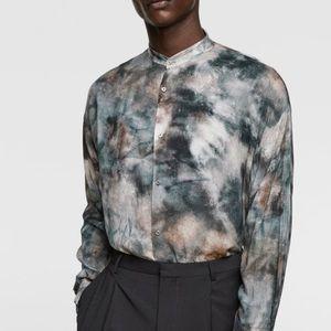 Zara men tye-dye print shirt